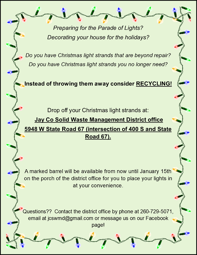 2017- CHRISTMAS LIGHT RECYCLING